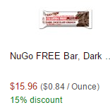 NuGo Bar on Amazon